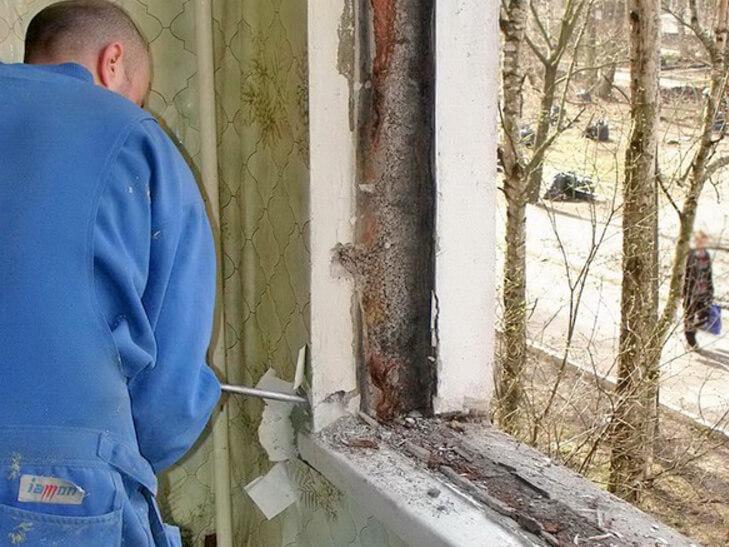 Демонтаж и установка окон